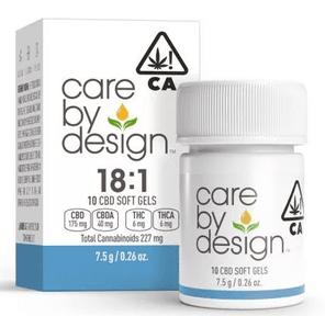[Care by Design] CBD Soft Gels - 18:1 - 10ct