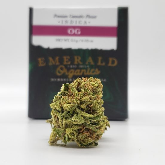 1/8 OG (24.93%/Indica) - Emerald Organics