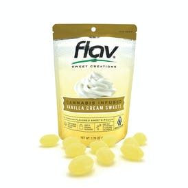 Flav Vanilla Cream Hard Candies 100mg