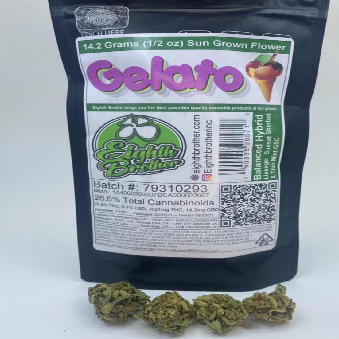 Gelato - 14g (THC 25%) by 8th Bros