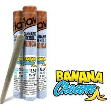 Flav Banana Cream Preroll 1g