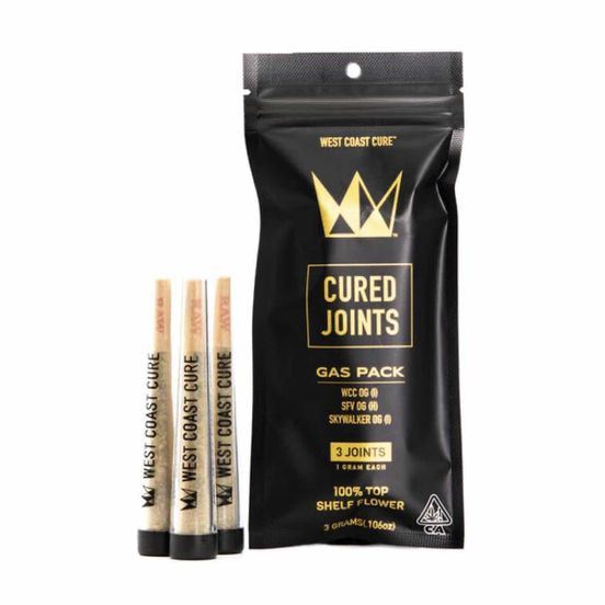 1g Gas Pack Cured Pre Rolls (3 Pack) - WEST COAST CURE