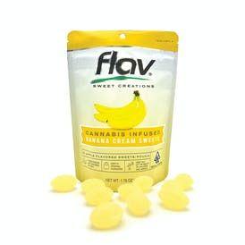 Flav Banana Cream Hard Candy 100mg