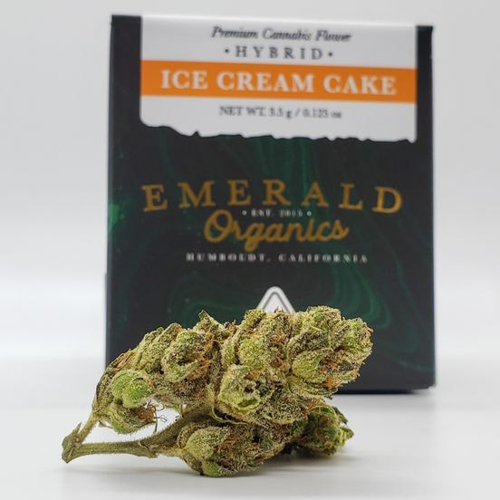 1/8 Ice Cream Cake (22.43%/Hybrid) - Emerald Organics
