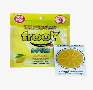 100mg Sour Lemon SINGLE GUMMY - FROOT