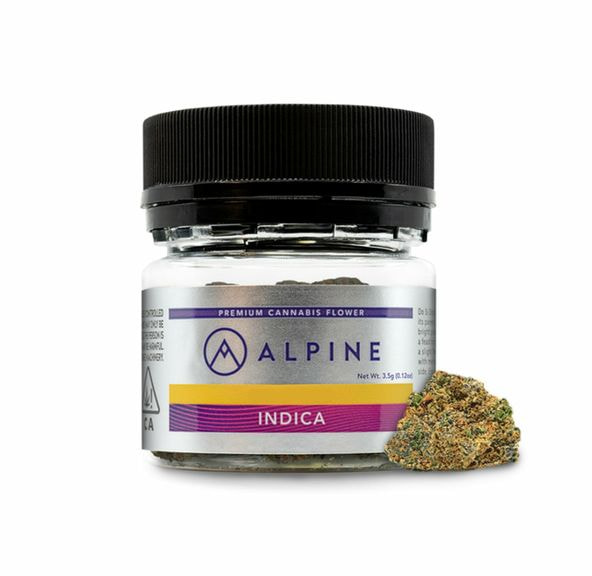 B. Alpine 3.5g Flower - 9/10 - Kush Mints (32% THC)