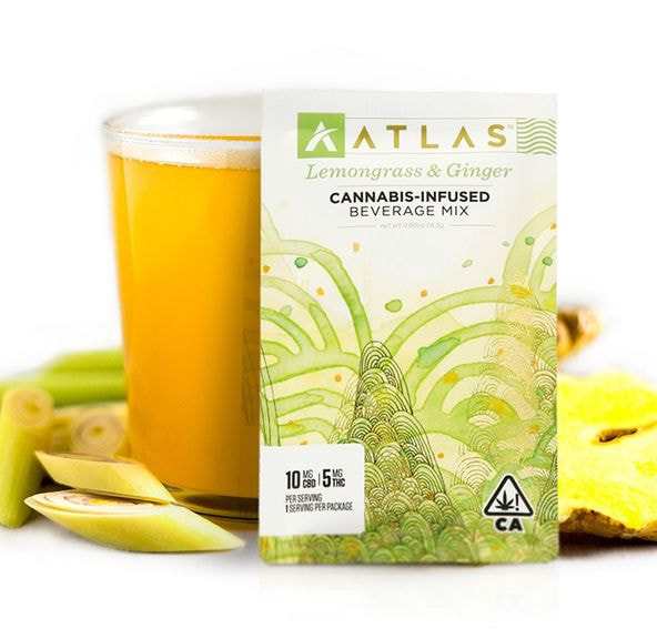 [Atlas] CBD/THC Beverage Mix - 2:1 - Lemongrass Ginger