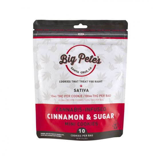 [Big Petes Treats] Cookies - 100mg - Cinnamon Sugar (S)