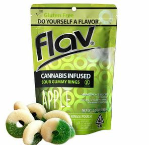 APPLE RINGS, Edible, 100mg - Flav