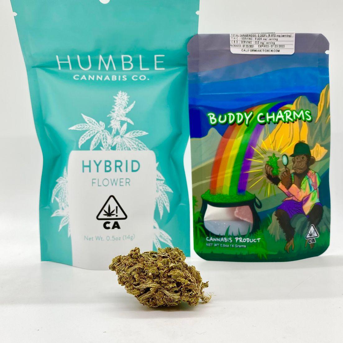 *Deal! $55 1/2 oz. Mendo Breath (26.97%/Indica)-Humble Cannabis Co. + Buddy Charms *Disclaimer*