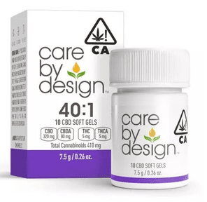 [Care by Design] CBD Soft Gels - 40:1 - 10ct