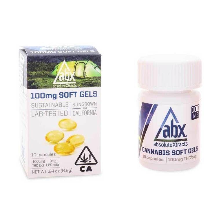 ABX Soft Gels 100MG THC (10 Capsules)
