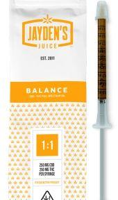 Jayden's Juice Extract Full Spectrum Oil BALANCE 500mg 1:1 CBD/THC 1mL