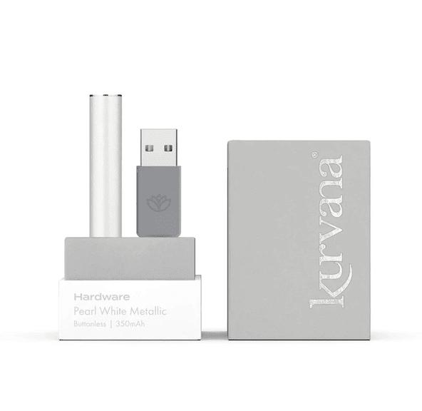 KURVANA - Pearl White Metallic Buttonless Battery 350mAh