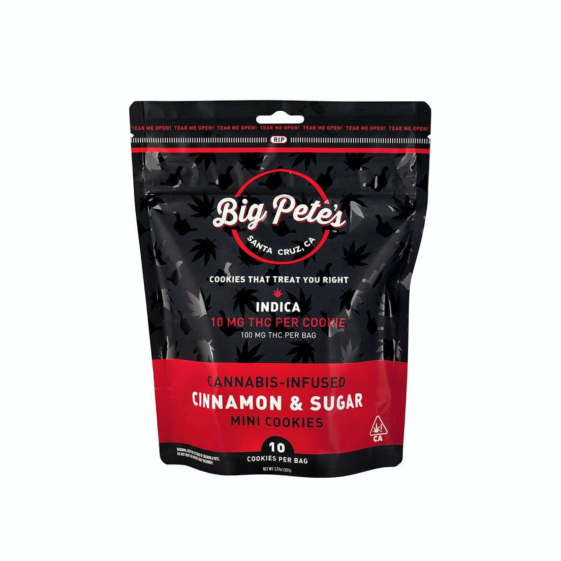 [Big Petes Treats] THC Cookies - 100mg - Cinnamon Sugar (I)