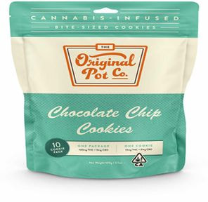 100mg Chocolate Chip Cookies (10 pc) - ORIGINAL POT COMPANY