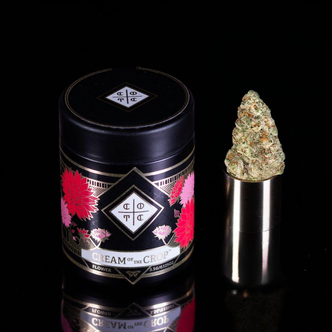 B. Cream of the Crop 1g Flower - 9/10 - Cake Crasher (~29% THC)