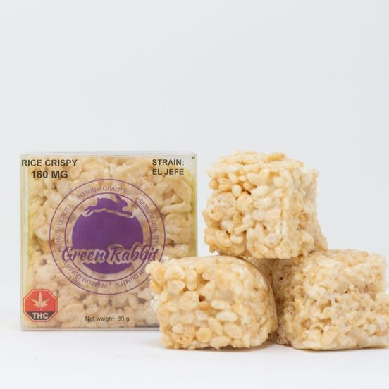 160mg Indica Rice Crispy Square by Green Rabbit