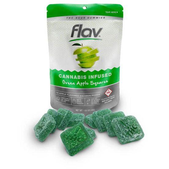 Flav - Sour Gummy Squares - Apple