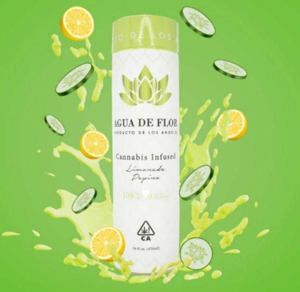 Agua De Flor Limonada Pepino Infused Drink 100mg