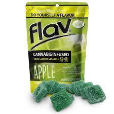 Flav Apple Sour Gummy Squares 100mg