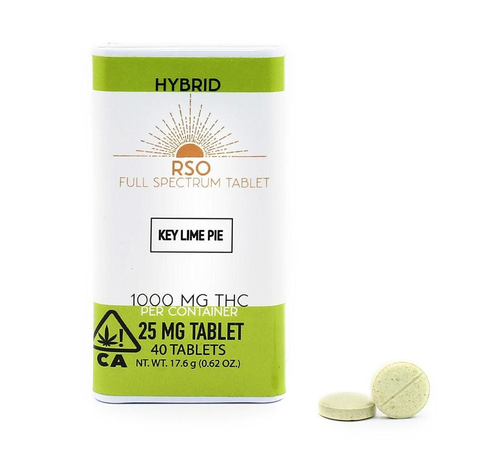 25mg Tablets - Hybrid - Key Lime Pie - 1000mg Package Emerald Bay Extracts