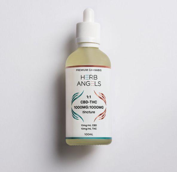 1000:1000 CBD : THC Tincture (100ml) - Herb Angels