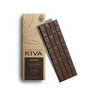 KIVA - Kiva Bar Dark Chocolate - 100mg