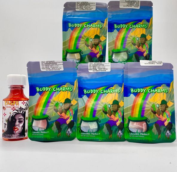 *Deal! $59 for (5) 50mg Gummy Cubes by Buddy Charms + (1) 50mg Syrup by Taste