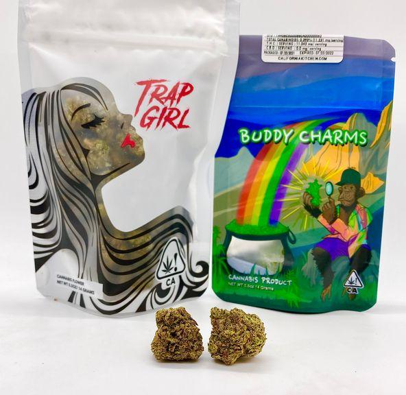 *Deal! $75 1/2 oz. Peanut Butter Runtz (Indoor/31.01%/Hybrid) - Trap Girl + Buddy Charms