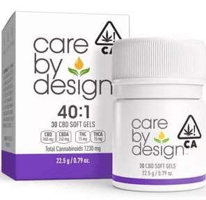 [Care by Design] CBD Soft Gels - 40:1 - 30ct