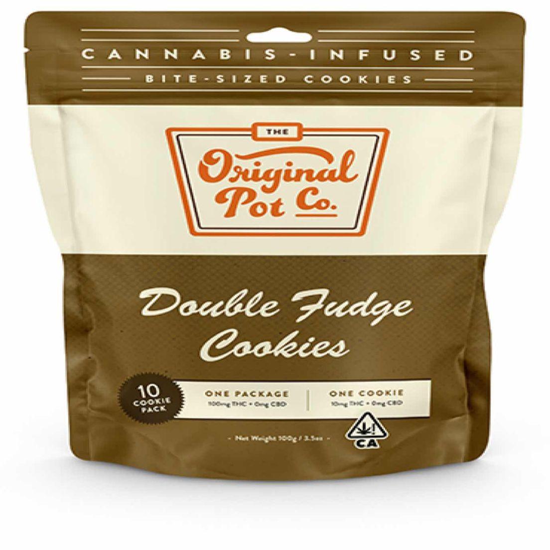 (PRE-ORDER ONLY) Double Fudge Cookies (100mg) - Original Pot Co.