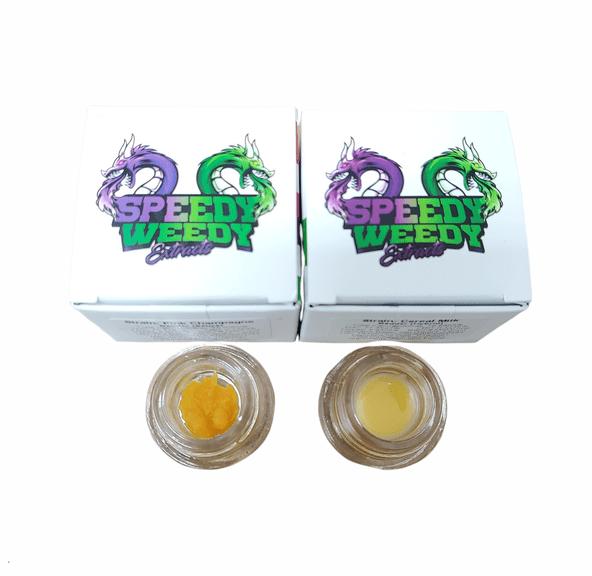 1. Speedy Weedy 1g Cured Resin Badder - Shockwave (H)