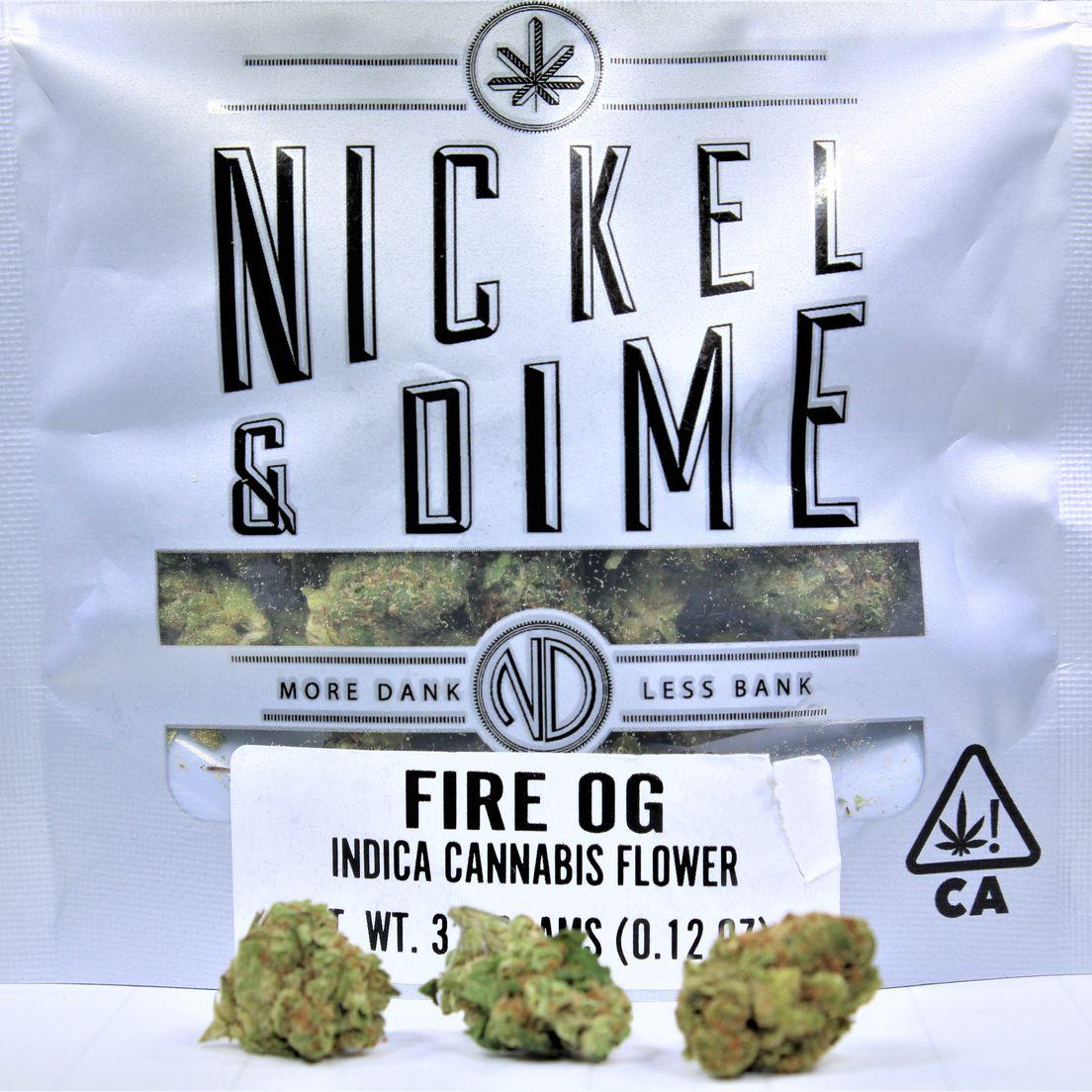 (PRE-ORDER ONLY) Fire OG (20% THC) Nickel & Dime