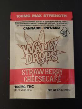*Wally Ranchers 100mg Lozenge Drops - Strawberry Cheesecake