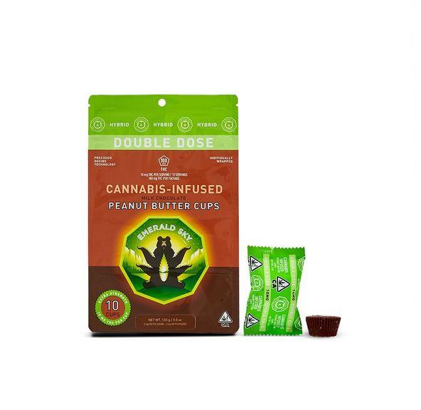 Emerald Sky Peanut Butter Cups Hybrid 100mg 10-Pack