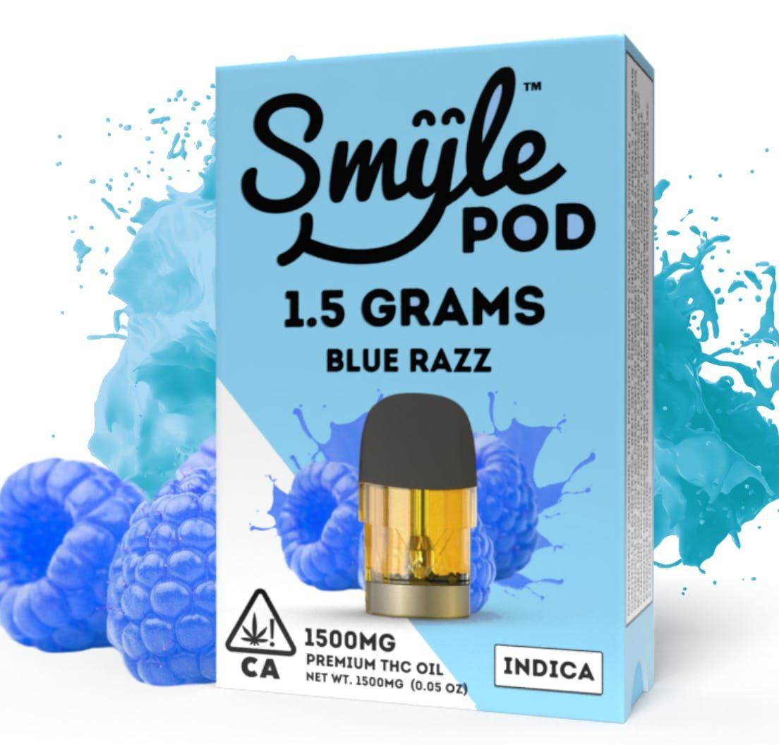 SMYLE POD - BLUE RAZZ 1.5 GRAM POD