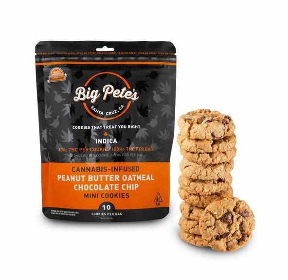 [Big Petes Treats] THC Cookies - 100mg - Peanut Butter Oatmeal Chocolate Chip (I)