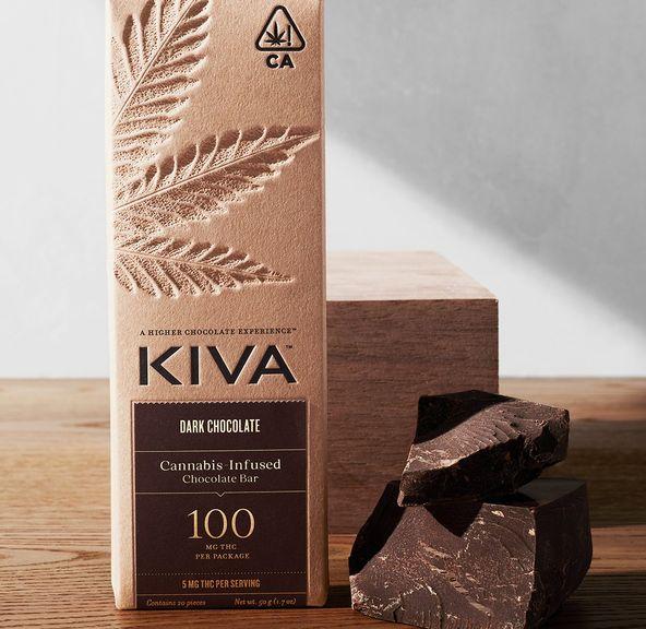 Kiva Bar - Dark Chocolate 100mg