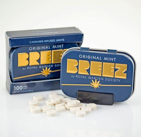 Breez Original Mint Tins 100mg