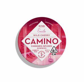 100mg Wild Cherry CAMINO Gummies Tin - KIVA