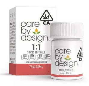 [Care By Design] CBD Soft Gels - 1:1 - 10ct
