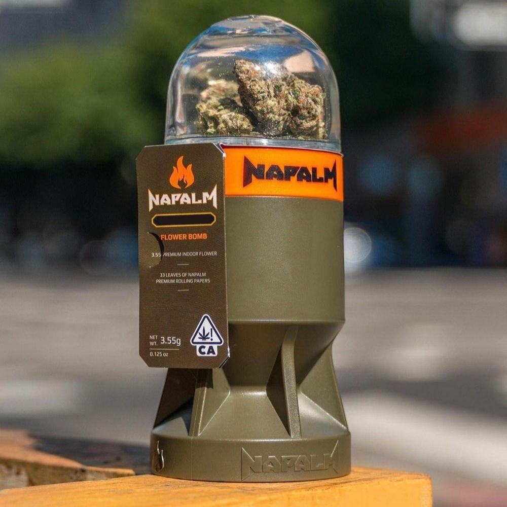 1. Napalm 3.5g Flower Bomb - 9/10 - SFV OG (~25% THC)