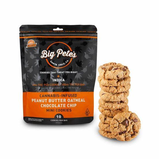 [Big Petes Treats] Cookies - 100mg - Peanut Butter Oatmeal Chocolate Chip (I)