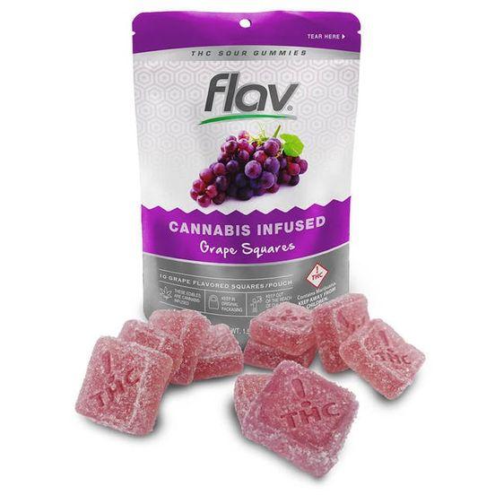 Flav - Sour Gummy Squares - Grape
