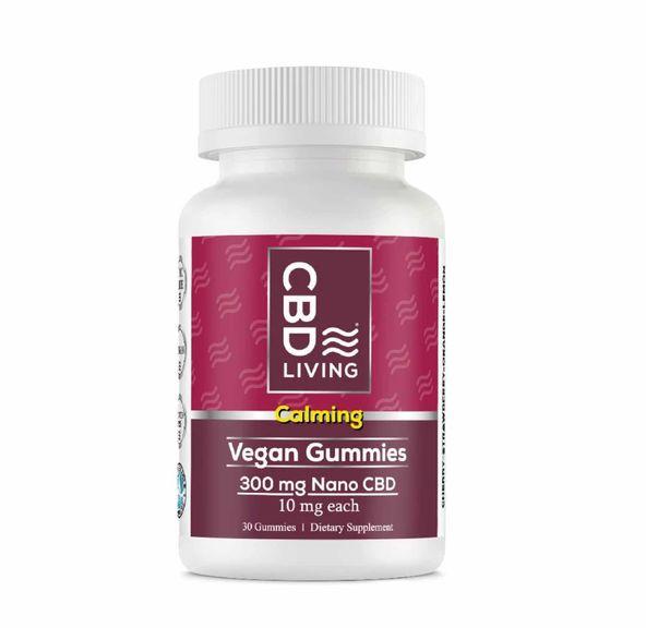 CBD Living Vegan Gummies Bottle 300mg