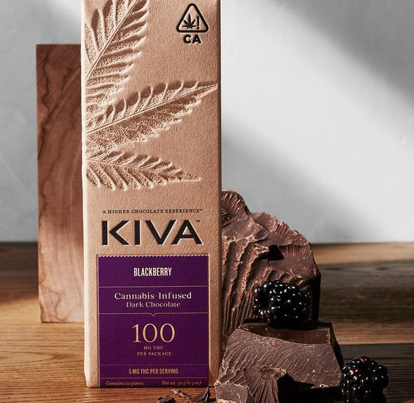 Kiva Bar - Blackberry Dark Chocolate 100mg