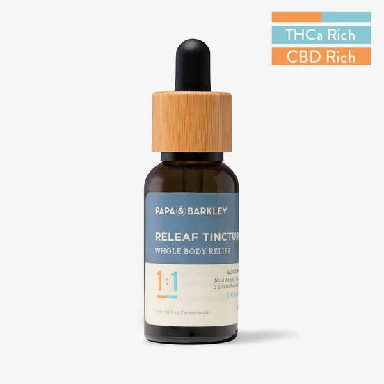 PAPA & BARKLEY - Releaf Tincture 30ml 1CBD:1THCa