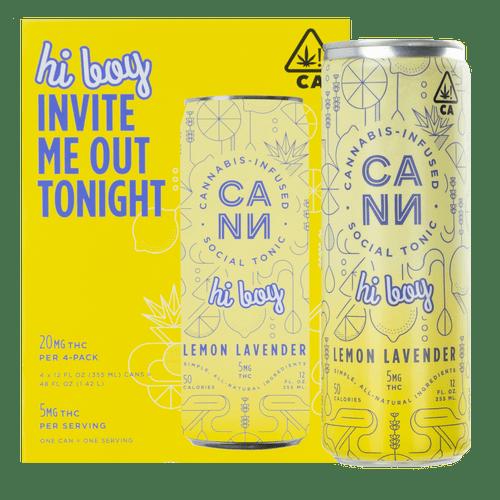 [CANN] THC Drink 4 PACK - 5mg - Lemon Lavender Hi Boy