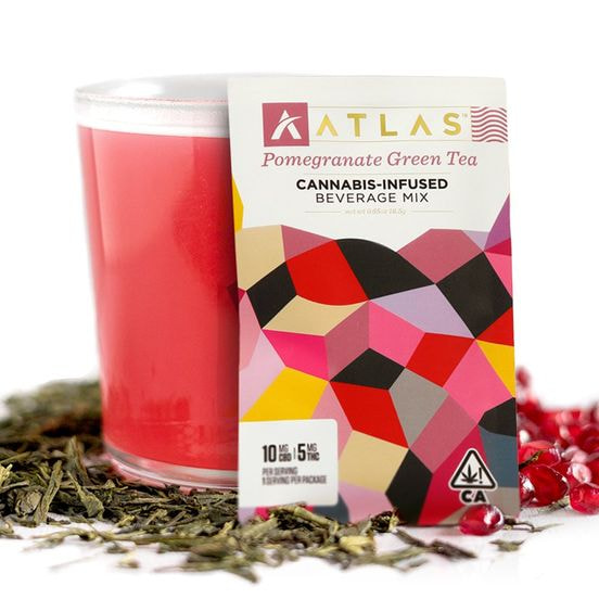 [Atlas] CBD/THC Beverage Mix - 2:1 - Pomegranate Green Tea